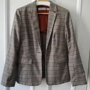 Simon's plaid blazer